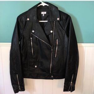 Tobi faux leather jacket